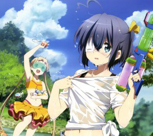 Chunibyo Demo Koi ga Shitai Ren.Rikka Takanashi.Sanae Dekomori Android wallpaper.2160x1920