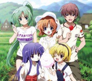 Higurashi no Naku Koro ni.Rena Ryugu.Mion Sonozaki.Keiichi Maebara.Rika Furude Android wallpaper.Satoko Houjou.2160x1920