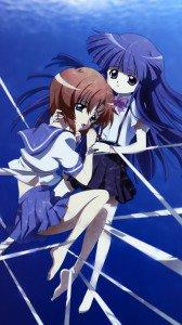 Higurashi no Naku Koro ni.Rena Ryugu.Rika Furude Magic THL W8 wallpaper.1080x1920