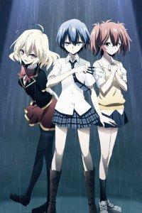 Riddle Story of Devil (Akuma no Riddle).Tokaku Azuma.Haru Ichinose.Nio Hashiri iPhone 4 wallpaper.640x960