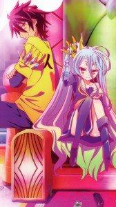 No Game No Life.Sora.Shiro Magic THL W300 wallpaper.1080x1920