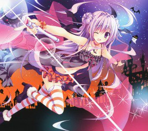Halloween 2014 anime.Android wallpaper.2160x1920