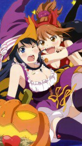 Halloween 2014 anime.Love Lab Samsung Galaxy S4 wallpaper.1080x1920