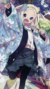 Hanayamata Hana N. Fountainstand.Magic THL W8 wallpaper 1080x1920