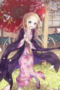 Hanayamata Hana N. Fountainstand.iPhone 4 wallpaper 640x960