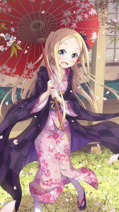 Hanayamata Hana N. Fountainstand.iPhone 6 wallpaper 750x1334