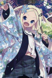 Hanayamata Hana N. Fountainstand.iPod 4 wallpaper 640x960