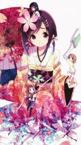 Hanayamata Naru Sekiya.Magic THL W8 wallpaper 1080x1920