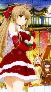Christmas 2015 anime Amagi Brilliant Park.Samsung Galaxy S4 wallpaper 1080x1920