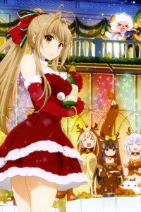 Christmas 2015 anime Amagi Brilliant Park.iPhone 4 wallpaper 640x960