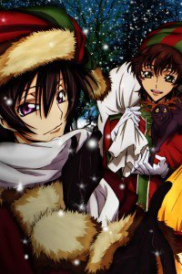 Christmas 2015 anime Code Geass.iPhone 4 wallpaper 640x960