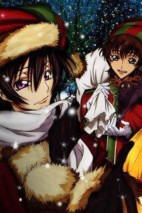 Christmas 2015 anime Code Geass.iPhone 4 wallpaper 640x960