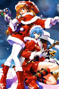 Christmas 2015 anime Evangelion.iPhone 4 wallpaper 640x960