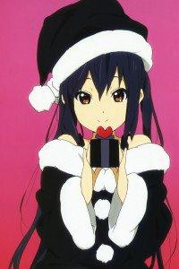 Christmas 2015 anime K-On.iPhone 4 wallpaper 640x960
