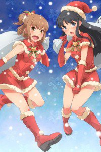 Christmas 2015 anime Love Lab.iPhone 4 wallpaper 640x960