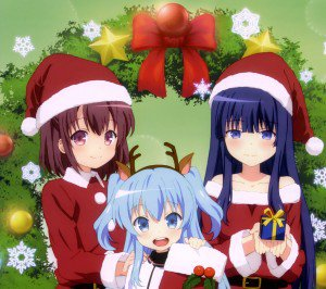 Christmas 2015 anime Sora no Method Android wallpaper 2160x1920