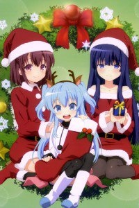 Christmas 2015 anime Sora no Method.iPhone 4 wallpaper 640x960