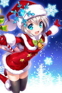 Christmas 2015 anime.iPhone 4 wallpaper 640x960
