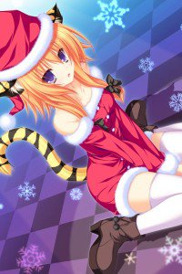 Christmas 2015 anime.iPod 4 wallpaper 640x960