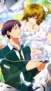 Gekkan Shoujo Nozaki-kun Umetaro Nozaki Yuzuki Seo iPod 5 wallpaper 640x1136