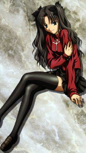 Fate Stay Night Unlimited Blade Works Rin Tohsaka 1080x1920