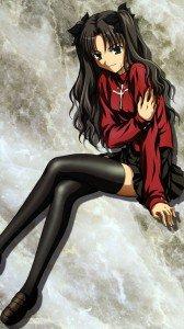 Fate Stay Night Unlimited Blade Works Rin Tohsaka 1080x1920