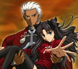 Fate Stay Night Unlimited Blade Works Rin Tohsaka Archer.Android wallpaper 2160x1920