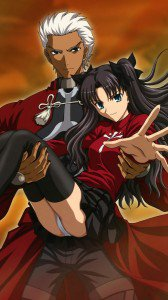 Fate Stay Night Unlimited Blade Works Rin Tohsaka Archer.Lenovo K900 wallpaper 1080x1920