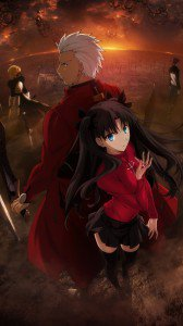 Fate Stay Night Unlimited Blade Works Rin Tohsaka Archer.iPhone 6 Plus wallpaper 1080x1920