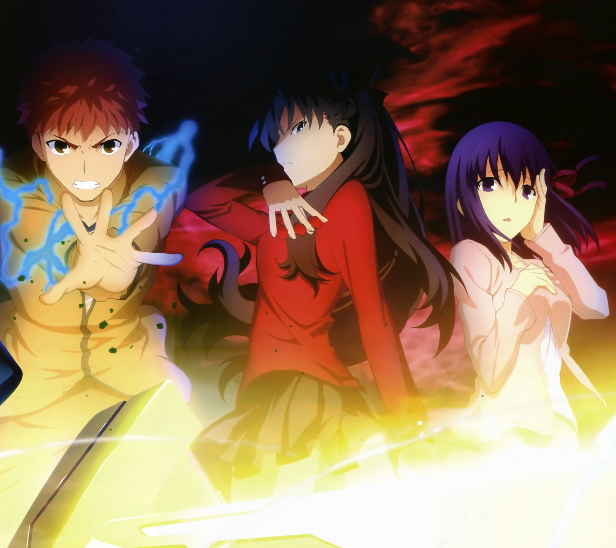 Fate Stay Night Unlimited Blade Works Rin Tohsaka Sakura Matou Shiro