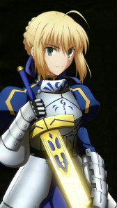 Fate Stay Night Unlimited Blade Works Saber.Lenovo K900 wallpaper 1080x1920