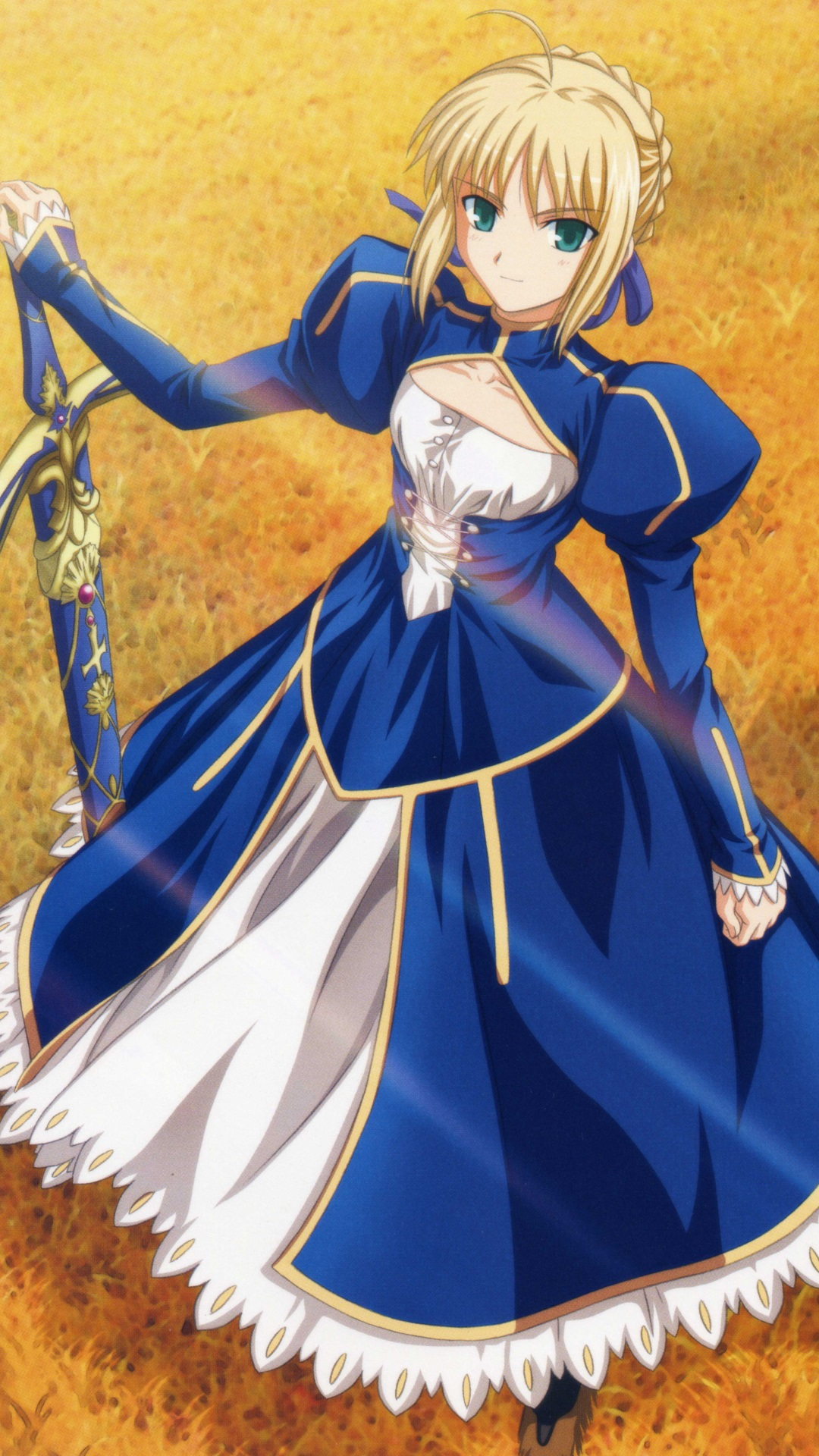 Fate Stay Night Unlimited Blade Works Saber Magic Thl W9 Wallpaper
