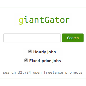 Find freelance jobs via giantGator