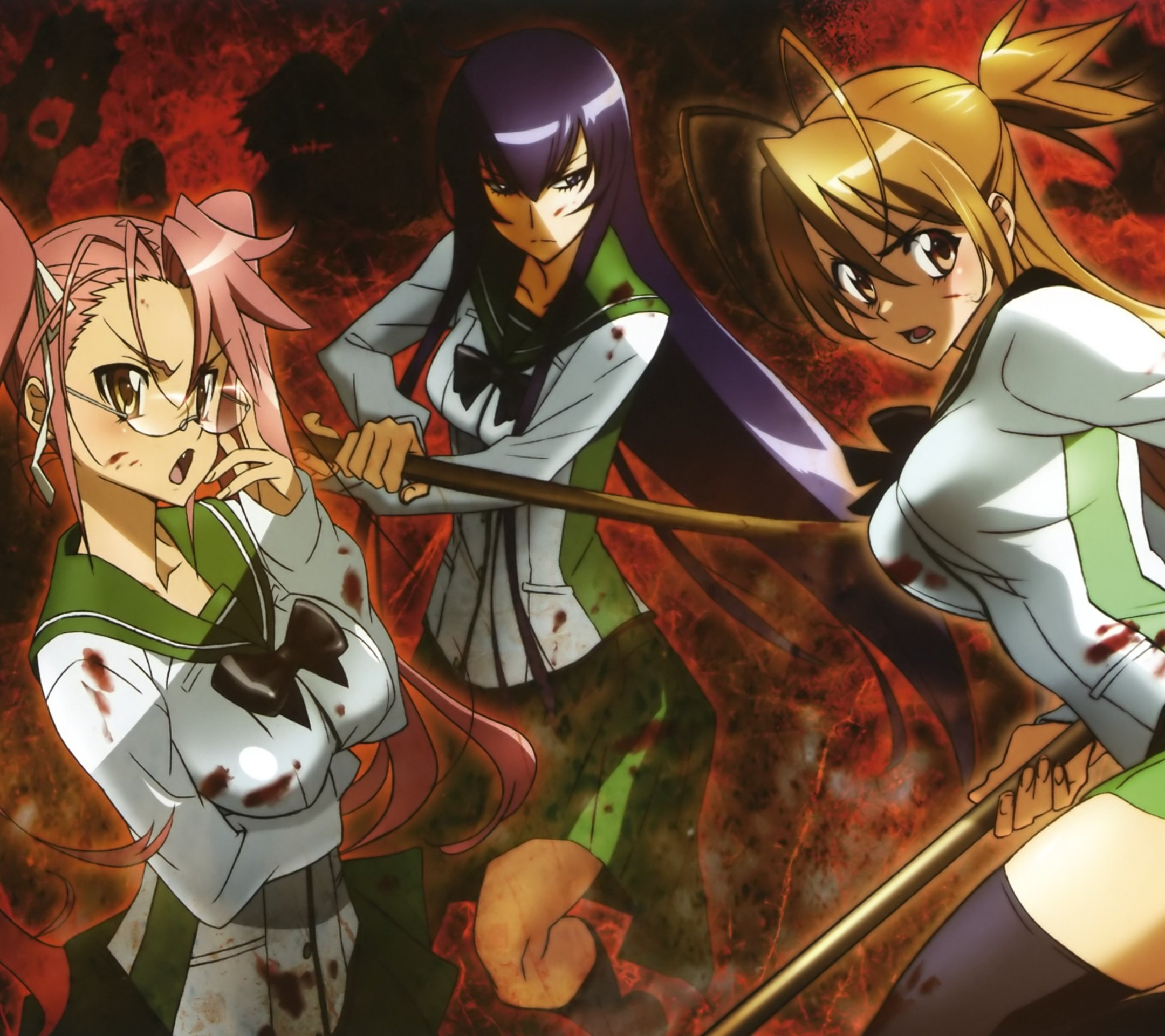 Highschool Of The Dead Android And Iphone5 And Iphone6 Wallpapers
