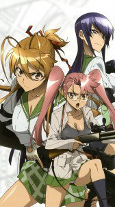 Highschool of the Dead Rei Miyamoto Saeko Busujima Saya Takagi.iPhone 6 Plus wallpaper 1080x1920