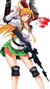 Highschool of the Dead Rei Miyamoto.Lenovo K900 wallpaper 1080x1920