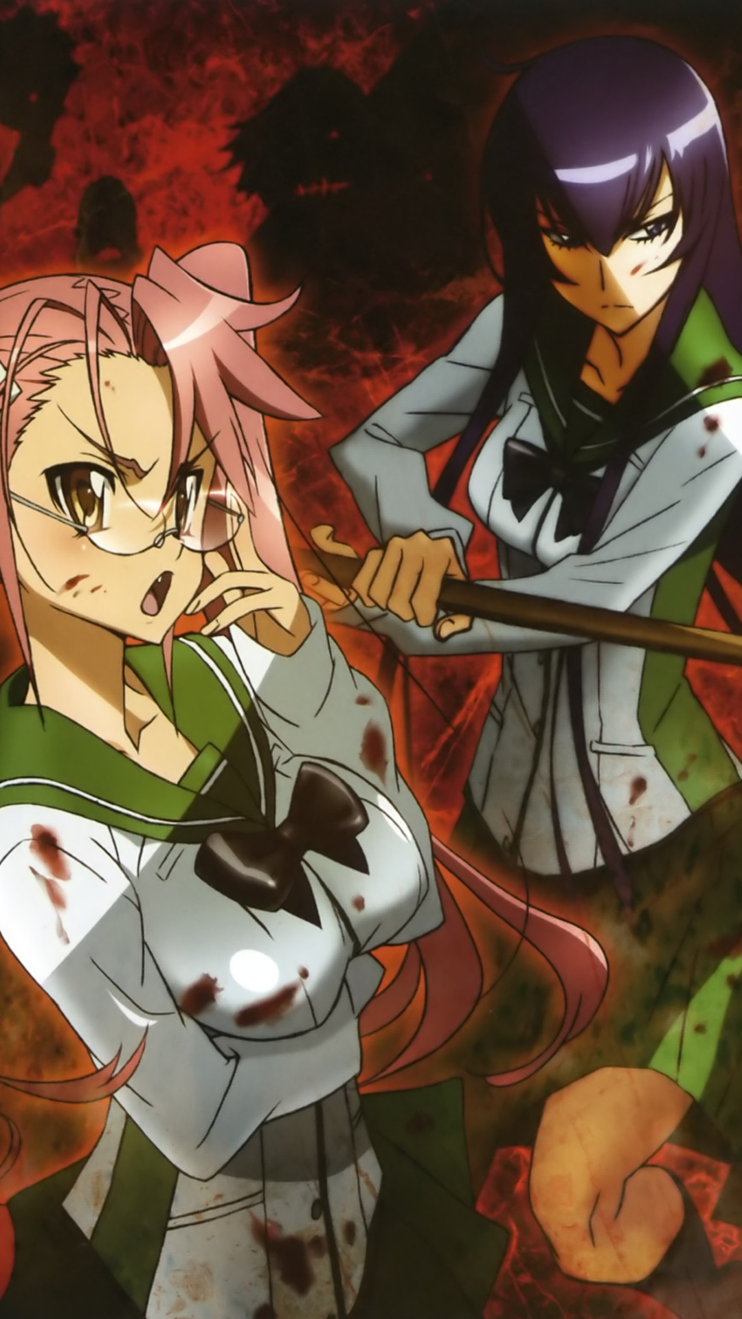 Highschool of the Dead Saeko Busujima Saya Takagi.Sony