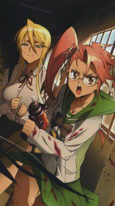 Highschool of the Dead Saya Takagi Shizuka Marikawa.iPhone 6 wallpaper 750x1334