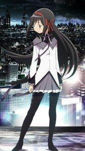 Mahou Shoujo Madoka Magica Homura Akemi.LG D802 Optimus G2 wallpaper 1080x1920