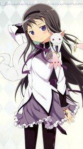 Mahou Shoujo Madoka Magica Homura Akemi.Samsung Galaxy S4 wallpaper 1080x1920