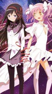 Mahou Shoujo Madoka Magica Madoka Kaname Homura Akemi.Sony Xperia Z wallpaper 1080x1920