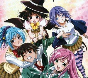 Rosario plus Vampire Moka Akashiya Kurumu Kurono Mizore Shirayuki Yukari Sendo.Android wallpaper 2160x1920