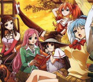 Rosario plus Vampire Moka Akashiya Kurumu Kurono Yukari Sendo Ruby Tojo Kokoa Shuzen.Android wallpaper 2160x1920
