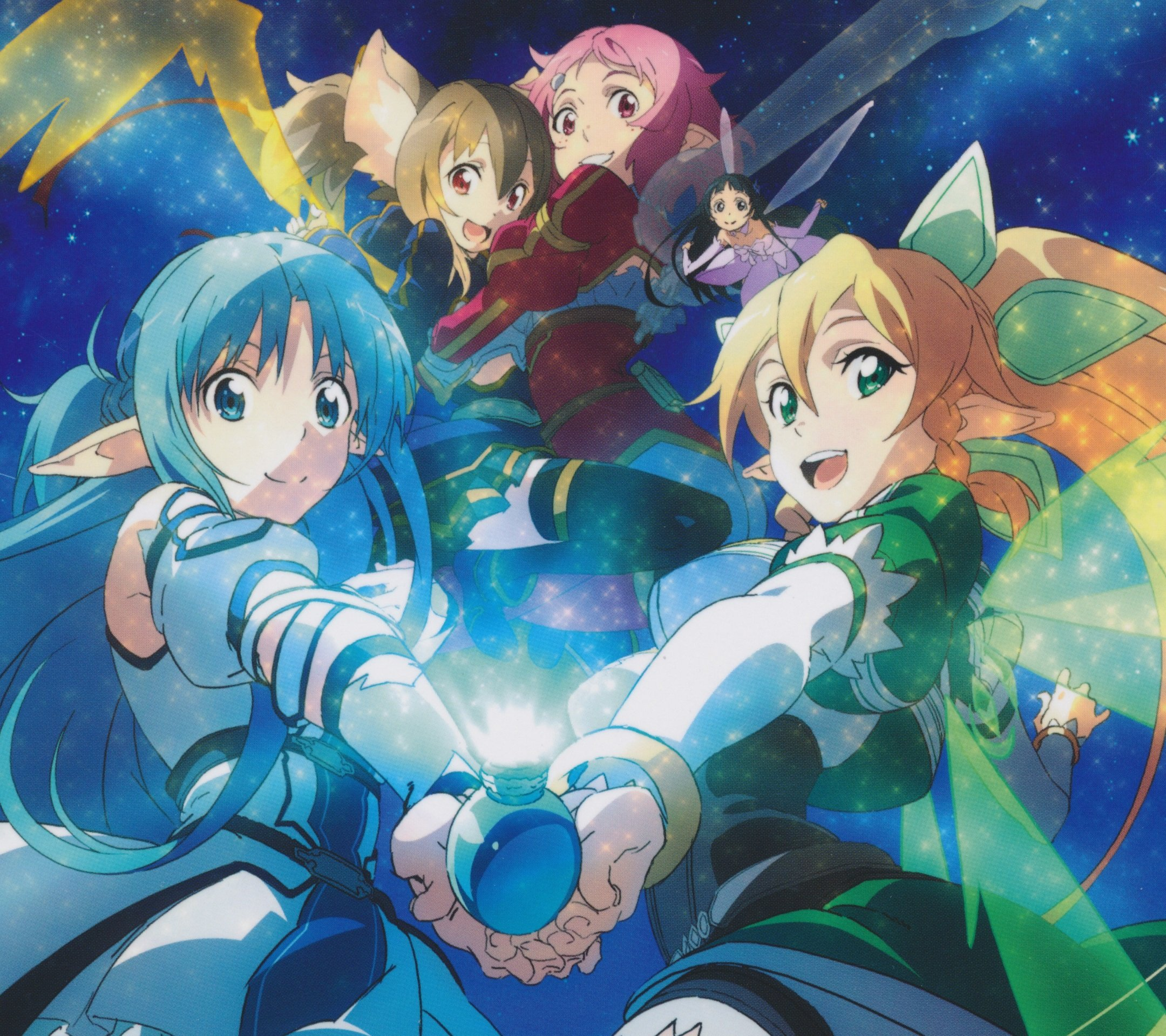 Sword Art Online 2 Asuna Leafa Silica Lisbeth.Android ...