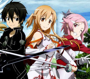 Sword Art Online 2 Kirito Asuna Lisbeth.Android wallpaper 2160x1920
