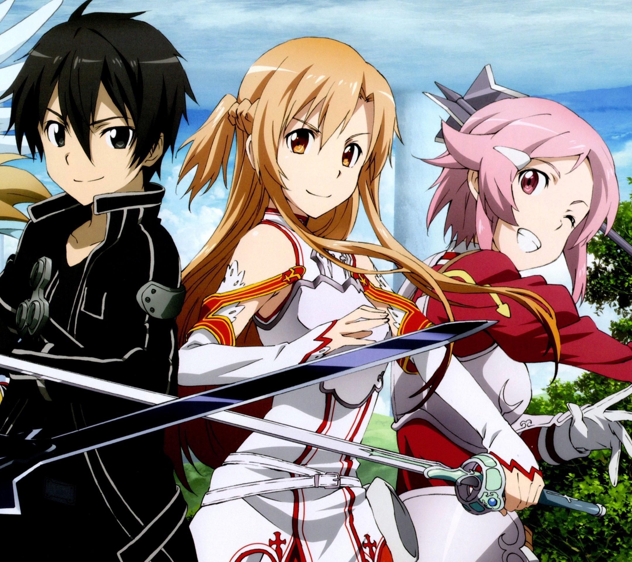 sword art online lisbeth and kirito wwwimgkidcom the