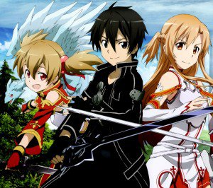 Sword Art Online 2 Kirito Asuna Silica.Android wallpaper 2160x1920