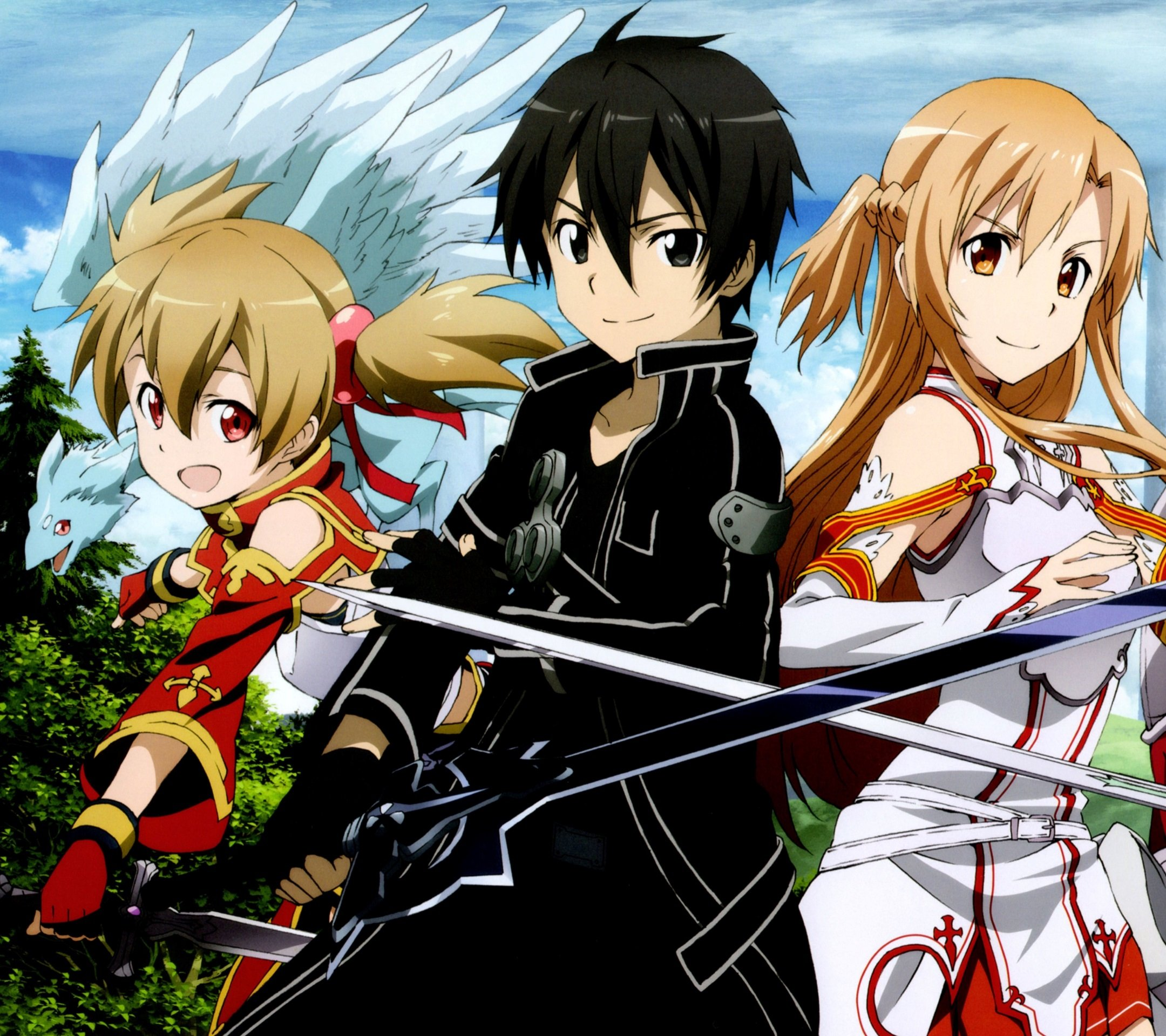 sword art online 2 kirito asuna silicaandroid wallpaper