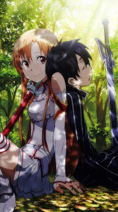 Sword Art Online 2 Kirito Asuna.HTC One wallpaper 1080x1920