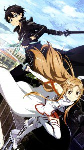 Sword Art Online 2 Kirito Asuna.LG D802 Optimus G2 wallpaper 1080x1920